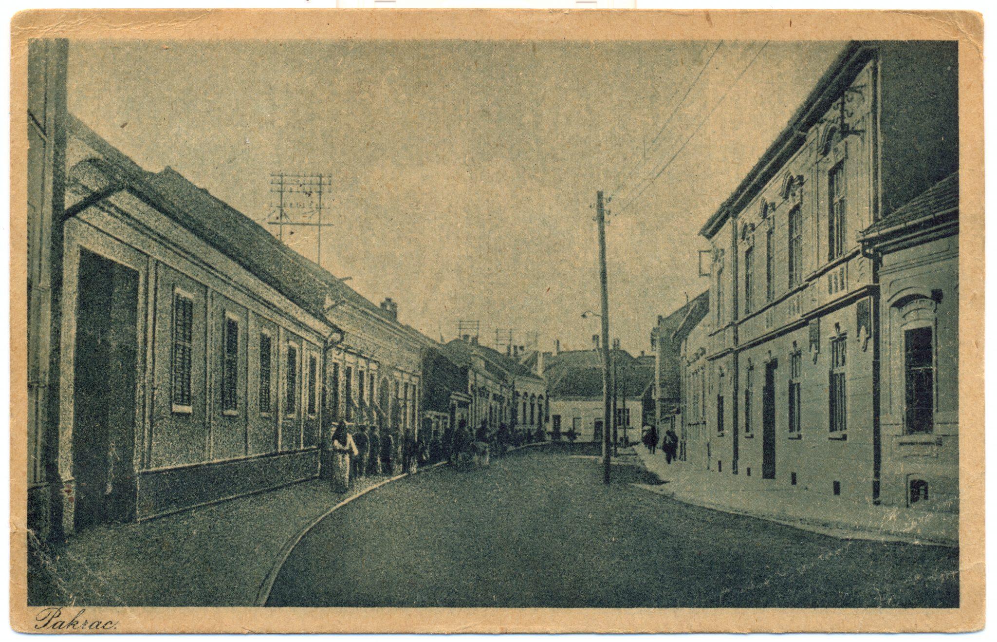 Današnja ulica kralja Tomislava Pakrac - 1922