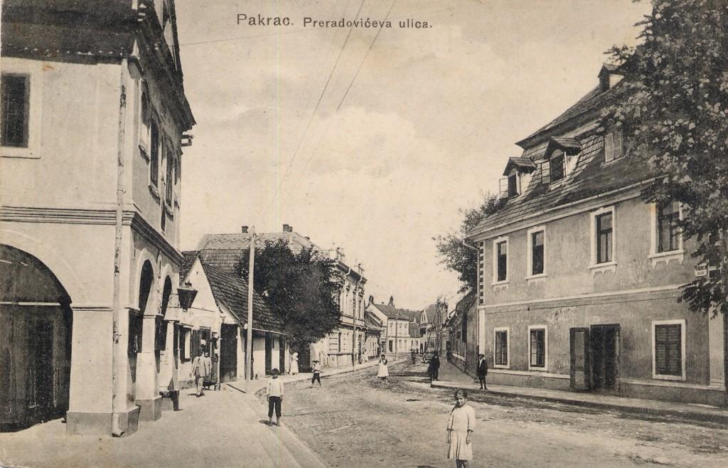 preradoviceva-ulica-danasnja-ulica-hrvatskih-velikana-pakrac-1913
