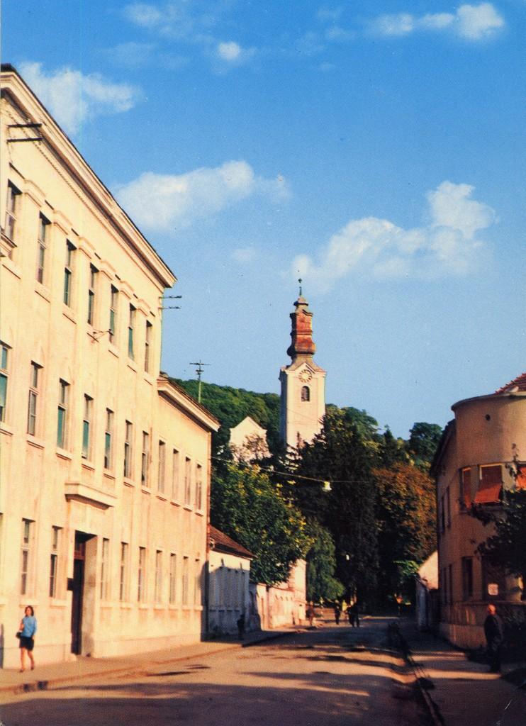 crkva-ubdm-i-zgrada-stare-osnovne-skole-pakrac-1970